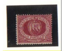 1877/90 - LBF/2722 - S. MARINO - 25c.  STEMMA - T/L