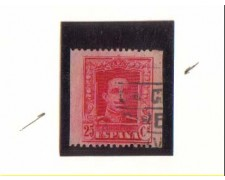 1922 - LBF/2777  -  SPAGNA - 25c. ALFONSO XIII° - VARIETA'