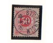1872 - LOTTO/SVE24IU  - SVEZIA - 50o. ROSA - USATO