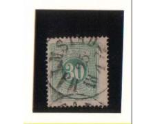 1874 - LBF/2804 - SVEZIA - SEGNATASSE 30o. VERDE - USATO