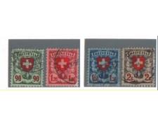 1924 - LBF/2837 -  SVIZZERA - CROCE e SCUDO 4v. - USATI