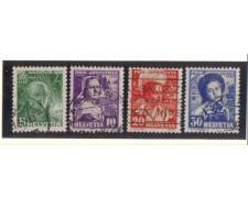 1936 - LBF/2839 -  SVIZZERA - PRO JUVENTUTE 4v. - USATI