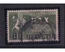 1945 - LBF/2844 - SVIZZERA - 80 CENT.  PAX - USATO