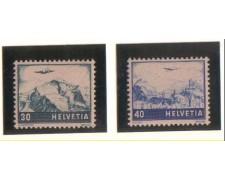1948 - LBF/2854  - SVIZZERA - POSTA AEREA 2v. NUOVI
