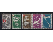 1951 - LBF/2855A -  SVIZZERA - PRO PATRIA 5v . USATI