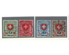 1924 - LBF/2873 -  SVIZZERA - CROCE e SCUDO 4v. - USATI