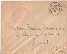 1939 - LOTTO/17353 -  FRANCIA - BUSTA NON AFFRANCATA  ANNULLO BRES NAVAL
