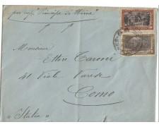 1911 - LBF/3072 - ARGENTINA - BUSTA PER COMO CON VAPORE