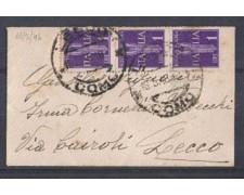 1946 - REGNO DI UMBERTO II° - LBF/496A  - LECCO  BUSTA PER CITTA'
