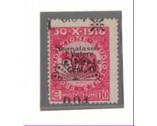 1921 - LBF/534 - FIUME - 0,004 SU 10c. SEGNATASSE  VARIETA'