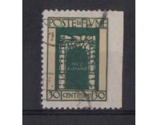 1923 - LBF/535 -  FIUME - 30c.VERDE S.VITO  VARIETA'