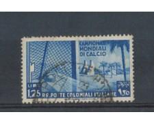 1934 - LOTTO/CEG48U - EMISSIONI GEN. - 1,25 MONDIALI CALCIO - USATO