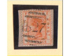 1875 - LBF/GC1 - GOLD COAST - 6p. ARANCIO