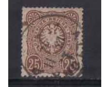 1875 - LOTTO/3675 - GERMANIA IMPERO - 25p. BRUNO ROSSO