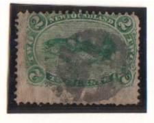 1866/71 - LOTTO/1800  - TERRANOVA - 2c. VERDE  USATO
