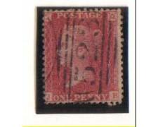 1854 - LOTTO/1828 -  GRAN BRETAGNA - 1p. BRUNO ROSSO POS. JB