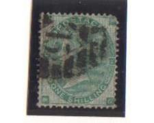1865 - LOTTO/1830  - GRAN BRETAGNA - 1s. VERDE TAV. 4 POS. MG