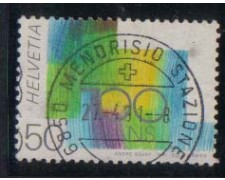 1991 - LOTTO/1878 -  SVIZZERA - VARIETA' - CENTENARIO CONFEDERAZ
