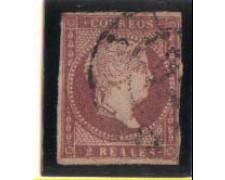 1856 - LOTTO/1901 - SPAGNA - 2r. LILLA BRUNO - USATO