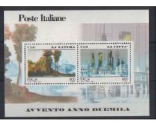 2000 - LOTTO/7270V  - REPUBBLICA -  NATURA E CITTA' - FOGLIETTO