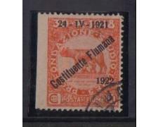 1922 - LOTTO/OCP2195  - FIUME - 20c. COSTITUENTE - VARIETA'