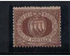 1877/90 - LOTTO/2638 -  SAN MARINO - 30c. BRUNO - T/L