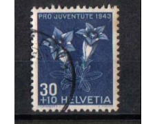 1943 - LOTTO/SVI391U -  SVIZZERA - 30+10 PRO JUVENTUTE - USATO