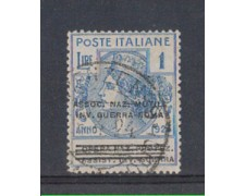 1924 - LOTTO/REGSS75U - REGNO - 1 L. ASS. NAZ. MUTIL. INV. GUERR