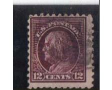 1916 - LOTTO/2930A - STATI UNITI - 12c. BRUNO LILLA FRANKLIN USATO