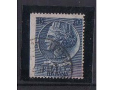 1957 - LOTTO/6318UV - REPUBBLICA - 200 LIRE SIRACUSANA VARIETA'