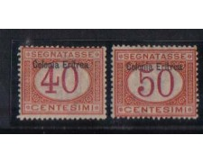 ERITREA - 1903 - LOTTO/ERITT5/6 - SEGNATASSE 40/50c. T/L