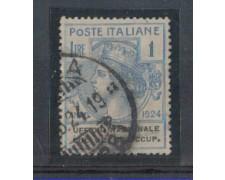 1924 - LOTTO/REGSS67UA - REGNO - 1 LIRA UFF. COLL. DISOCCUPATI -