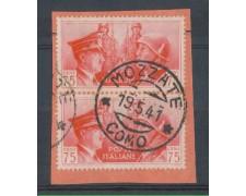 MOZZATE (COMO) - 1941 - LOTTO/REG456UA - REGNO - 75c. FRATELLANZA