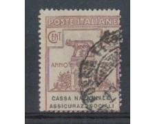 1924 - LOTTO/REGSS26UA - REGNO - 25c. CASSA NAZ. ASSIC. SOCIALI