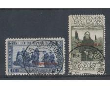 1926 - TRIPOLITANIA -  LOTTO/3401 - S. FRANCESCO 1,25 e 5+2,50 L. - USATI