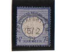 1872 - LOTTO/3445 - GERMANIA IMPERO - 7K. AZZURRO
