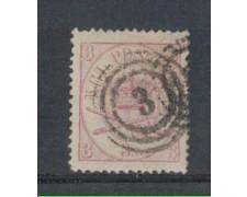 1864 - LOTTO/DAN12U -  DANIMARCA - 3s. LILLA - USATO