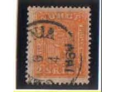 1863 - LOTTO/NORV6U - NORVEGIA - 2 Sk. GIALLO - USATO