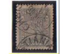 1863 - LOTTO/NORV7U - NORVEGIA - 3 Sk. GRIGIO VIOLETTO - USATO