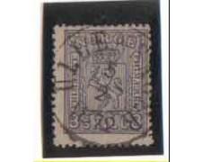 1867/68 - LOTTO/NORV13U -NORVEGIA - 3 SK. VIOLETTO - USATO