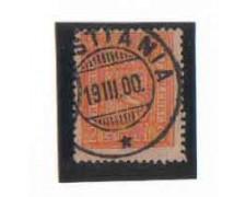 1867/68 - LOTTO/NORV12U - NORVEGIA - 2 SK. ARANCIO - USATO