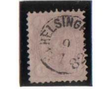 1875/81 - LOTTO/FIN18U - FINLANDIA - 1 M. VIOLETTO - USATO