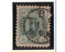 1875 - LOTTO/3498 -  FINLANDIA -  8p. VERDE AZZURRO