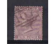 1862 - LOTTO/3505 - GRAN BRETAGNA - 6p. VIOLETTO - TAV. 3