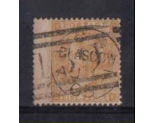 1862 - LOTTO/3512 - GRAN BRETAGNA - 9p. GIALLO BISTRO - TAV. 2