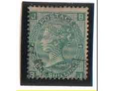 1865 - LOTTO/3516 - GRAN BRETAGNA - 1 SCELLINO VERDE - TAV. 4