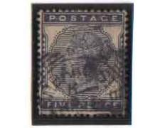 1881 - LOTTO/3518 - GRAN BRETAGNA - 5p. AZZURRO