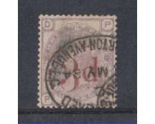 1883 - LOTTO/3519 - GRAN BRETAGNA - 3d. SU 3p. VIOLETTO - TAV. 2