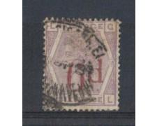 1883 - LOTTO/3520 - GRAN BRETAGNA - 6d. SU 6p. VIOLETTO - TAV. 1