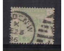 1883/84 -  LOTTO/3525 - GRAN BRETAGNA - 6p. VERDE